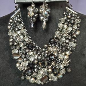 Stunning Statement Bib Necklace Set